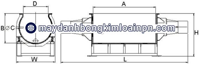 Máy đánh bóng rung dạng máng chữ nhật ADV-813